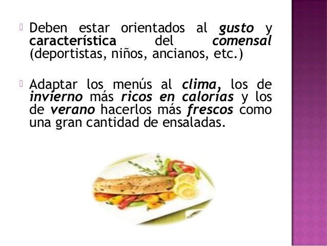 Tipos de menu for Manual de operaciones de un restaurante ejemplo