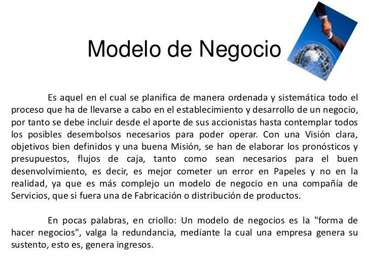 Modelos de negocios Slide 2