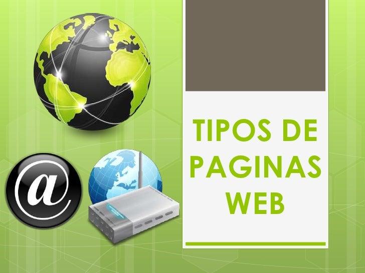 TIPOS DEPAGINAS   WEB
