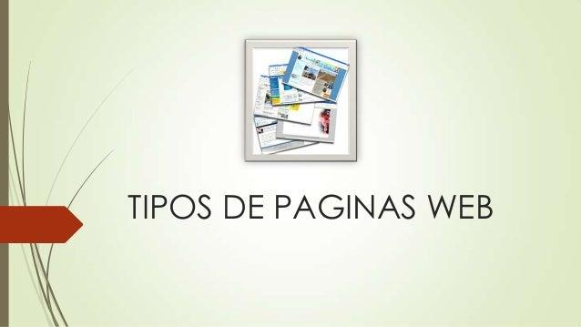 TIPOS DE PAGINAS WEB
