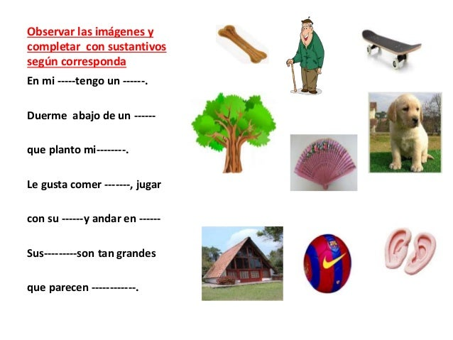 Tipos de palabras Slide 3