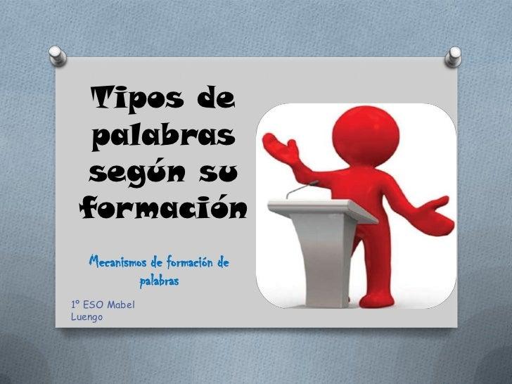 Resultado de imagen de CLASE DE PALABRAS SEGÚN SU FORMA