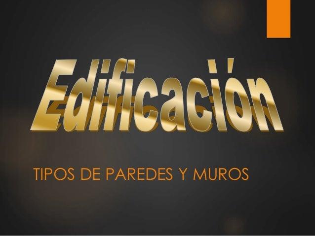 TIPOS DE PAREDES Y MUROS