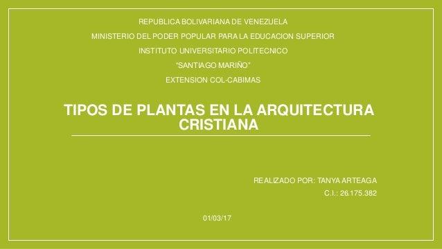 Tipos De Plantas En La Arquitectura Cristiana