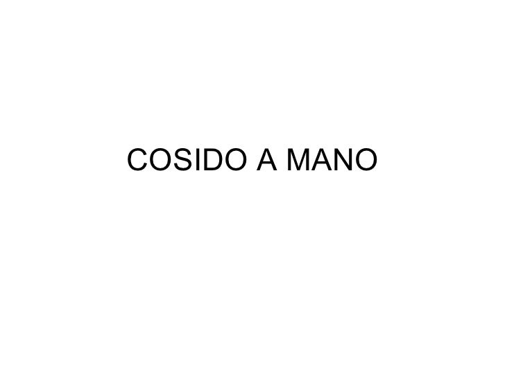 COSIDO A MANO