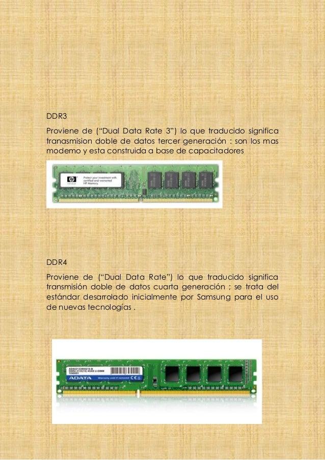 """DDR3 Proviene de (""""Dual Data Rate 3"""") lo que traducido significa tranasmision doble de datos tercer generación : son los m..."""
