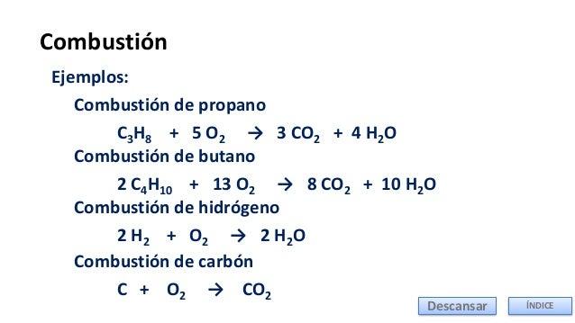REACCIONES DE COMBUSTION PDF