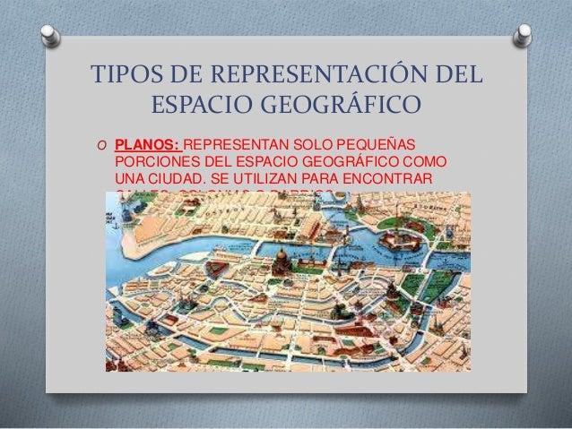 Tipos de representaci n del espacio geogr fico - Tipos de espacios ...