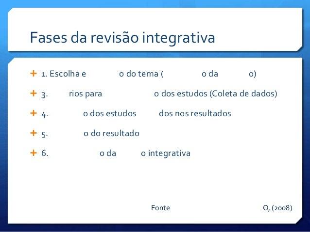 Revisao integrativa
