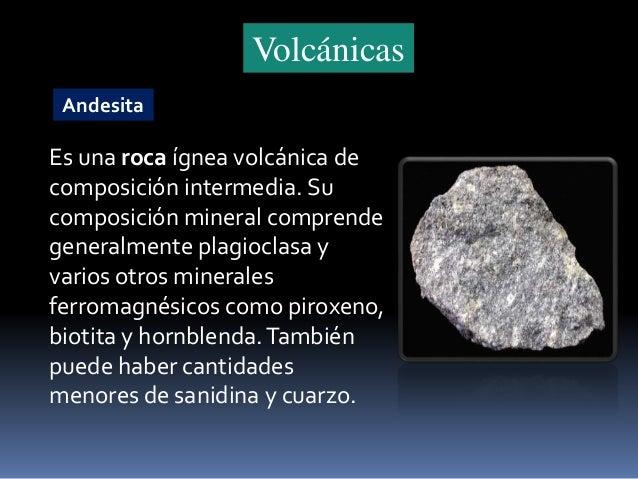 Tipos de rocas for Roca en ingles