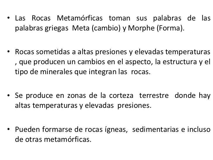 Formación de Rocas Metamórficas