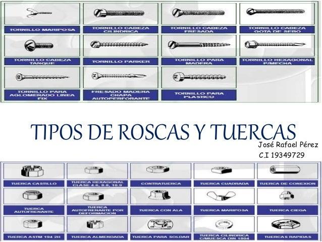 Tipos roscas y tornillos for Tipos de tuercas