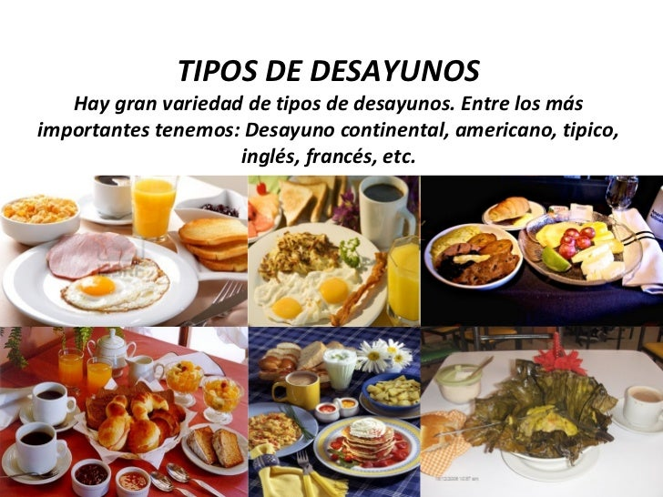 Tipos de servicio de alimentos y bebidas ean