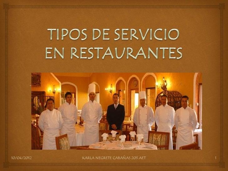 Tipos de servicio pdf for Tipos de servicios de un hotel
