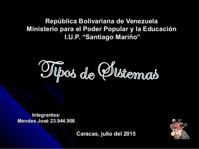 República Bolivariana de VenezuelaRepública Bolivariana de Venezuela Ministerio para el Poder Popular y la EducaciónMinist...