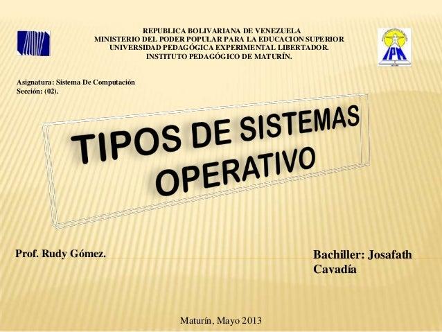 REPUBLICA BOLIVARIANA DE VENEZUELAMINISTERIO DEL PODER POPULAR PARA LA EDUCACION SUPERIORUNIVERSIDAD PEDAGÓGICA EXPERIMENT...