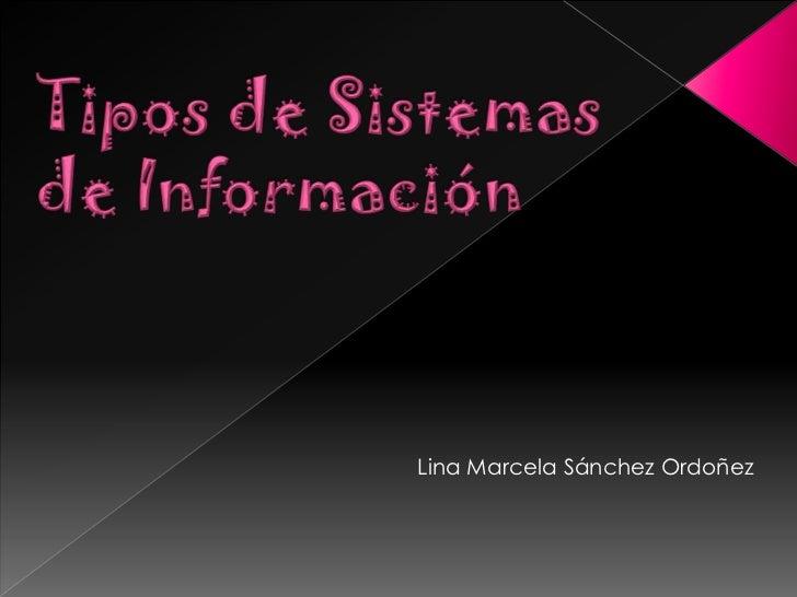 Lina Marcela Sánchez Ordoñez