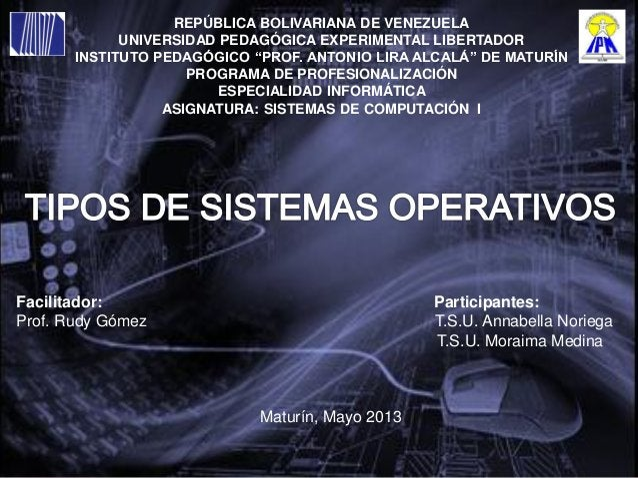 "REPÚBLICA BOLIVARIANA DE VENEZUELAUNIVERSIDAD PEDAGÓGICA EXPERIMENTAL LIBERTADORINSTITUTO PEDAGÓGICO ""PROF. ANTONIO LIRA A..."