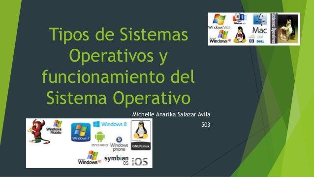 Tipos de Sistemas Operativos y funcionamiento del Sistema Operativo Michelle Anarika Salazar Avila 503