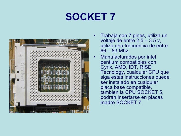 Tipos de socket for Tipos de zocalos
