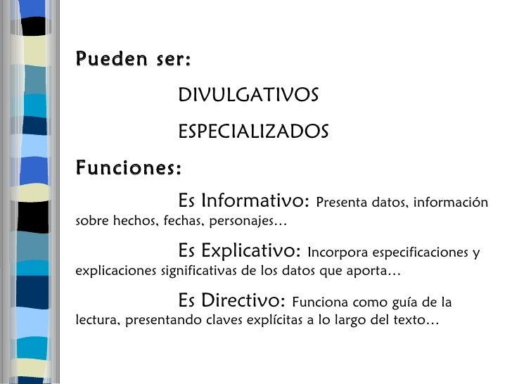 Tipos De Texto Segun Extructura
