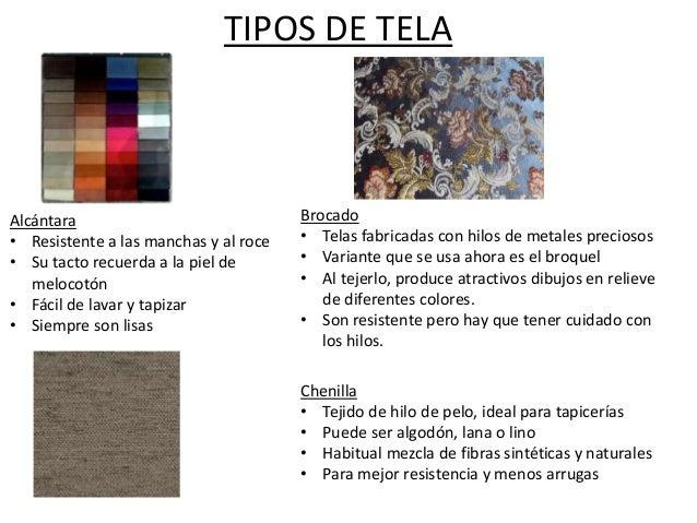 Tipos de textiles - Tipos de telas para tapizar ...