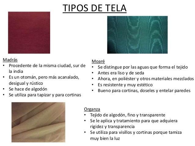 Tipos de textiles - Tipos de telas para cortinas ...