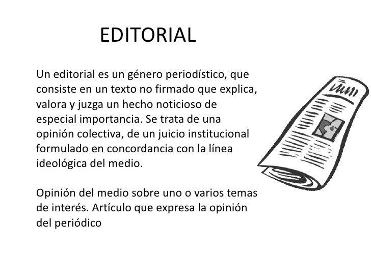 Tipos de textos argumentativos for Ejemplo de una editorial de un periodico mural