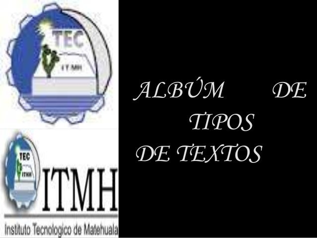 ALBÚM DE TIPOS DE TEXTOS