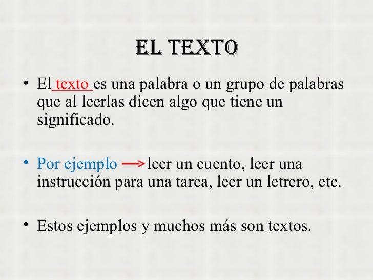 Tipos de textos for Cuarto definicion