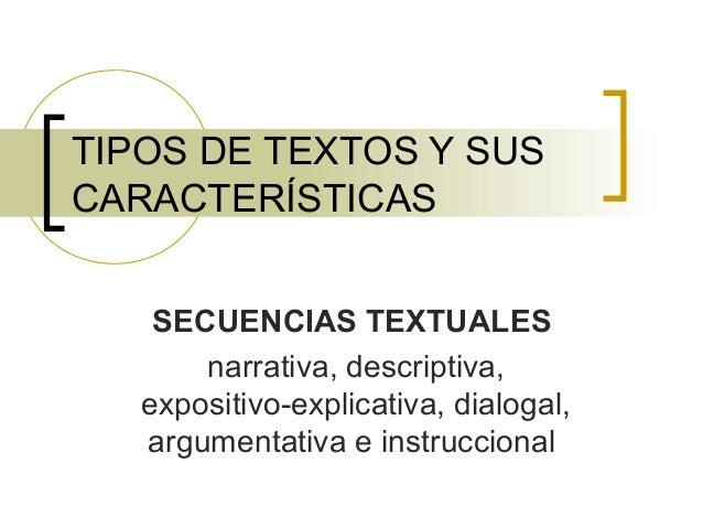 Tipos de textos y sus caracter sticas for Cuales son las caracteristicas de un mural