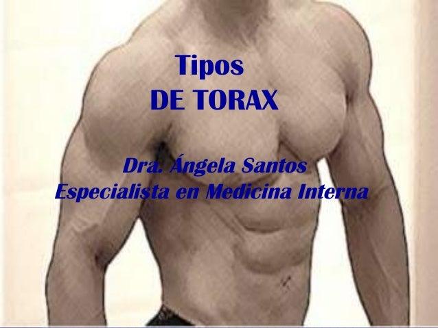 Tipos DE TORAX Dra. Ángela Santos Especialista en Medicina Interna