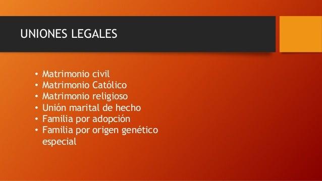 Matrimonio Catolico Origen : Tipos de uniones