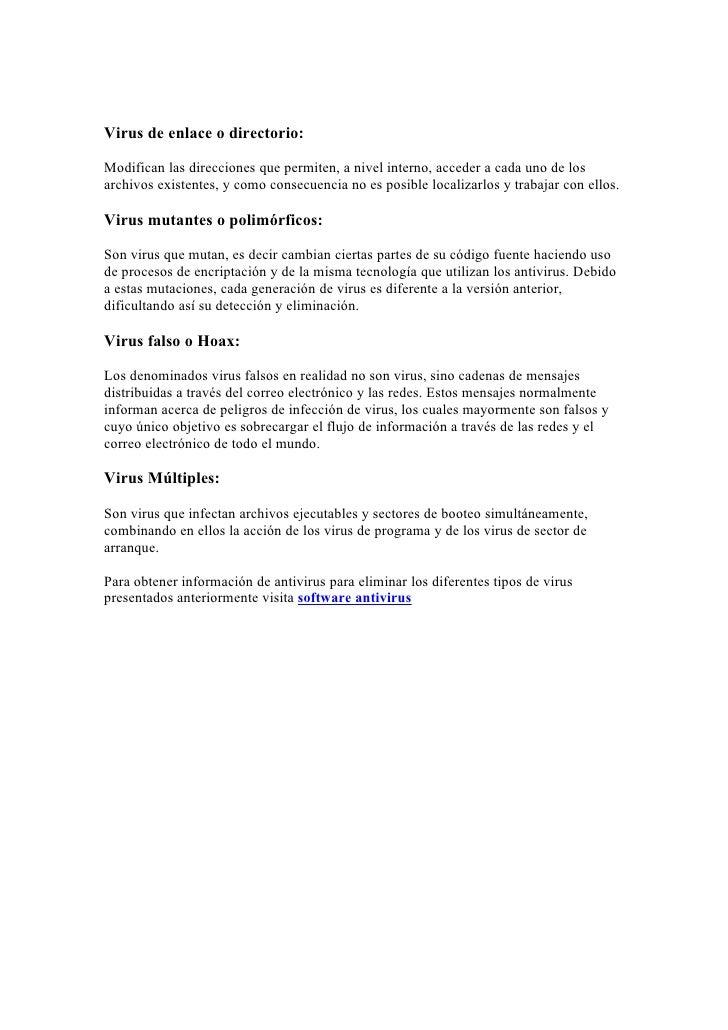 Tipos De Virus InformáTicos Slide 2