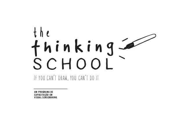 If you can't draw, you can't do it the school t h i n k i n g UM PROGRAMA DE CAPACITAÇÃO EM VISUAL SENSEMAKING