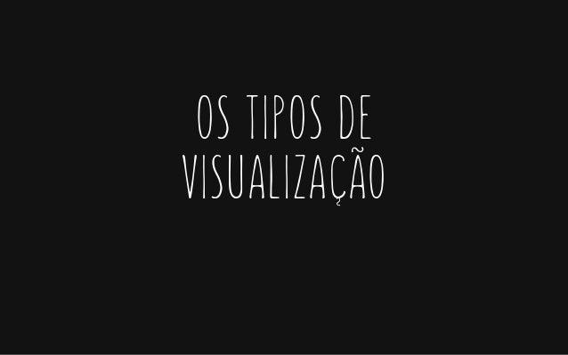 OS TIPOS DE VISUALIZACÃO