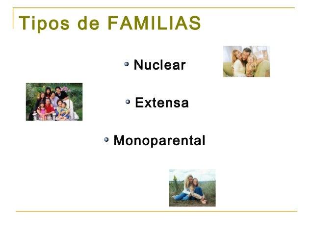 Tipos de familias Tipos de familia nuclear
