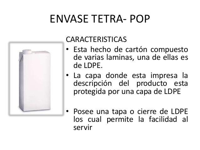Tipos y caracter sticas de envases y empaque - Descripcion del producto ...
