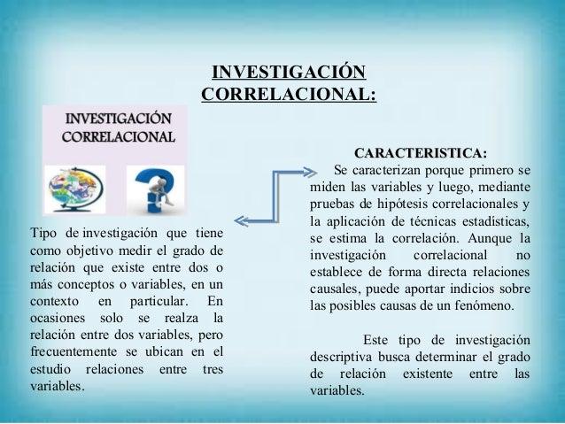 INVESTIGACIÓN CORRELACIONAL: CARACTERISTICA:CARACTERISTICA: Se caracterizan porque primero se miden las variables y luego,...
