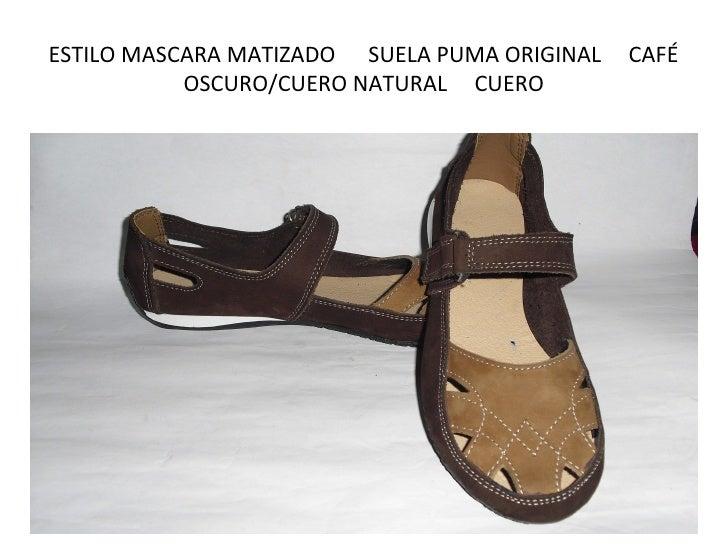 ESTILO MASCARA MATIZADO SUELA PUMA ORIGINAL   CAFÉ           OSCURO/CUERO NATURAL CUERO