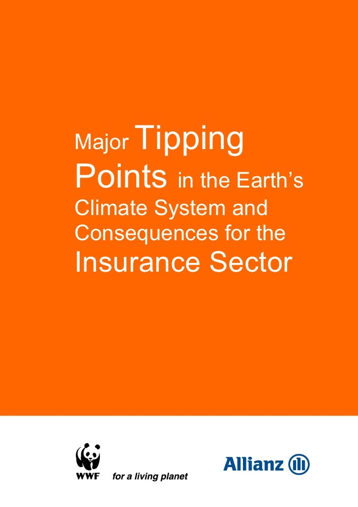 Major TippingPoints in the Earth'sClimate System andConsequences for theInsurance Sector