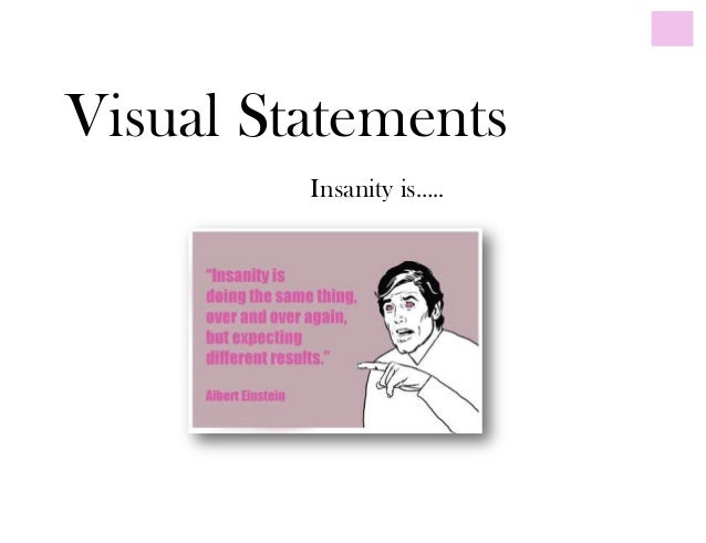 Visual StatementsInsanity is…..