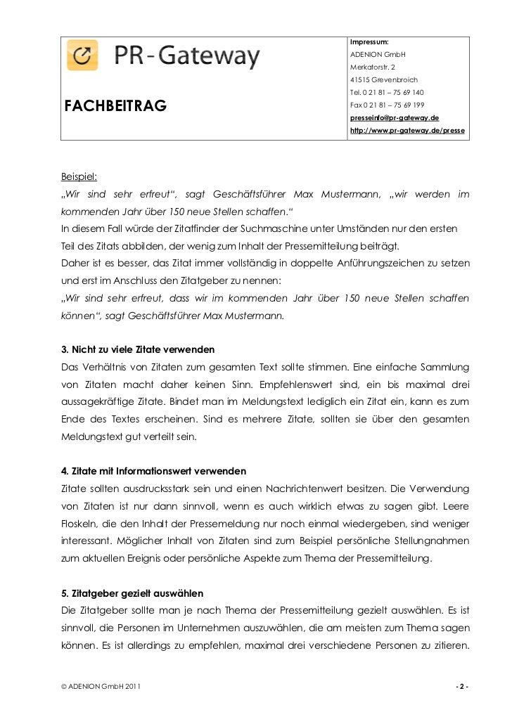 10 Tipps Für Die Verwendung Von Zitaten In Pressemitteilungen