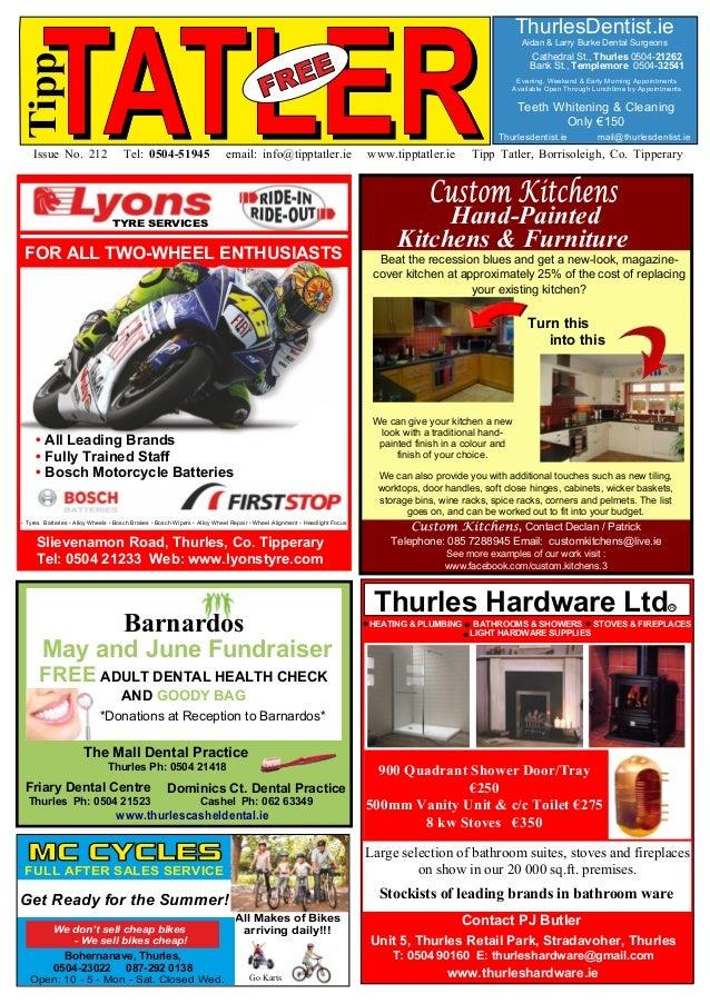 TATLERIssue No. 212 Tel: 0504-51945 email: info@tipptatler.ie www.tipptatler.ie Tipp Tatler, Borrisoleigh, Co. Tipperary T...