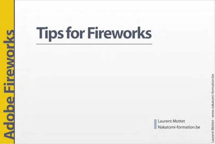 Tips for Adobe Fireworks
