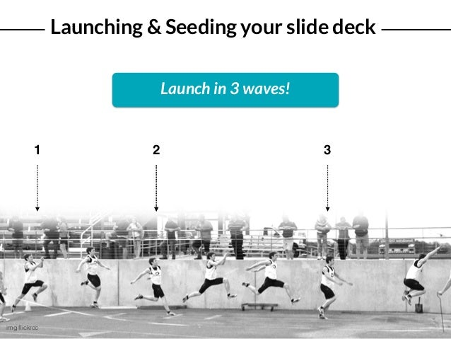 Launching & Seeding your slide deck img flickrcc 1 2 3 Launch in 3 waves!