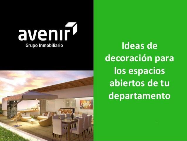 Tips decoracion espacios abiertos departamentos - Decoracion espacios abiertos ...