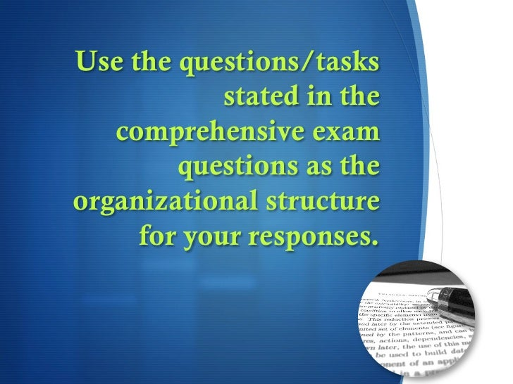 comprehensive exam learner Capstone seminar format—comprehensive exam comprehensive exam preparation learning and educational studies.