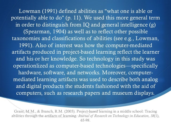 """Lowman (1991) defined abilities as """"what one is able orpotentially able to do"""" (p. 11). We used this more general term  in..."""