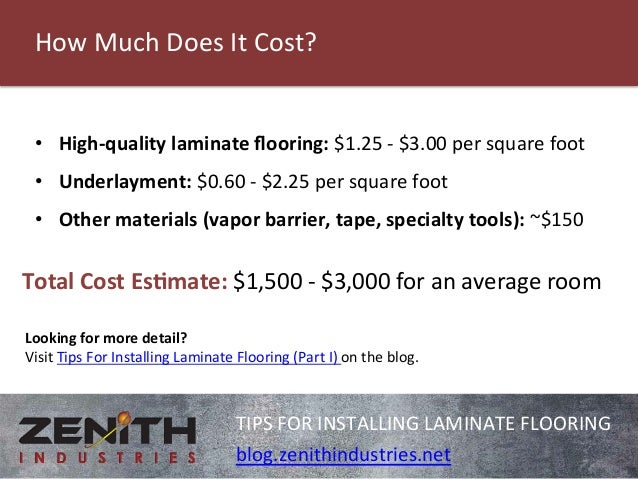 Tips For Installing Laminate Flooring 3 How Much